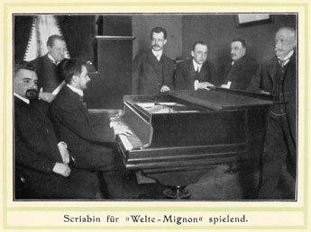 Scriabin recording for Welte Company