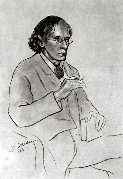 Portrait of the writer Vyacheslav Ivanov 1920 by K.Yuon